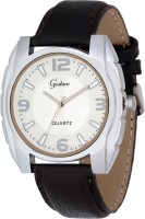 Gesture Gesture Square Case White Round Dial Watch Square Analog Watch  - For Men