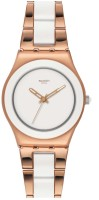 Swatch Analog Watch  - For Women - Rose Gold, Off White