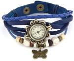 Zdelhi.Com Wrist Watches Zdelhi.Com Blue Vintage Watch Analog Watch For Girls