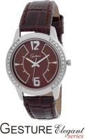 Gesture 7009-BR-L Elegant Analog Watch  - For Women