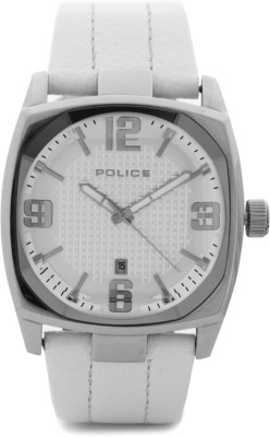 Police Police Analog Watch (White)