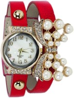 Jack Klein RedPuPearls Analog Watch  - For Girls, Women