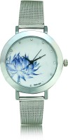 Geneva Blue Flower Analog Watch  - For Women, Girls
