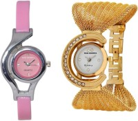 Hari Krishna Enterprise Glory Golden & Pink Analog Watch  - For Women, Girls