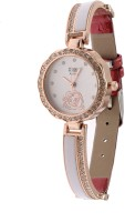 RBS Online Trading Company Red Diamond Studded Dual Colour Analog Watch  - For Girls, Women