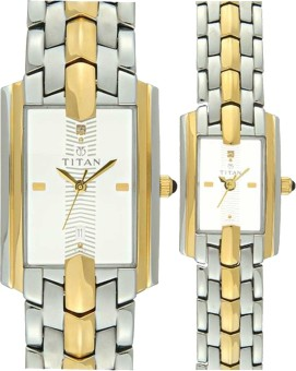 Titan Analog Watch - For Couple (Silver, Gold)