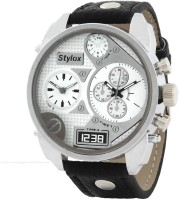 Stylox WH-STX126 White Analog Watch  - For Men
