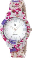 Excelencia CW23Pink&Lavender Floral Print Analog Watch  - For Women