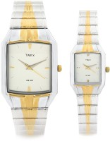 Timex Dresswear Analog Watch - For Couple (Gold, Silver)