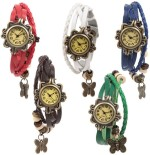 Felizo Wrist Watches Felizo Bracelet Fancy Vintage Latkan Butterfly Analog Watch For Women