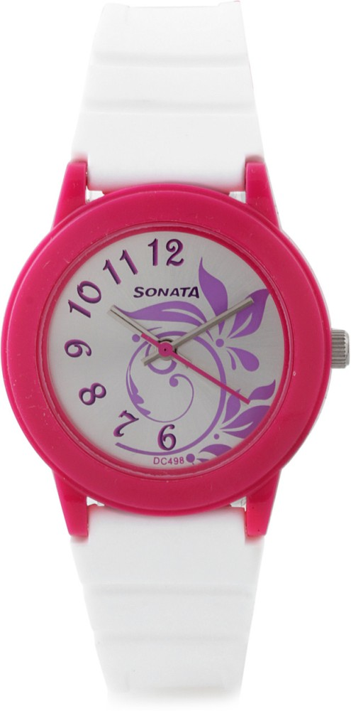 Sonata 8992PP04 Fashion Fibre Analog Watch For Women