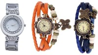 Jack Klein Jck_01106_vntg_orng_blu Analog Watch  - For Girls, Women