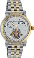 Titan Automatic Analog Watch  - For Men - Silver, Gold