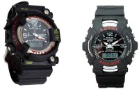 TCT Frogman And Showy Combo Set Of 2 Analog-Digital Watch  - For Boys, Men, Couple