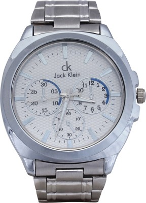 Jack Klein White Dial Analog Watch  - For Men, Boys