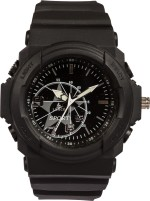 Lenco Wrist Watches Lenco CPLENCOSTARBDBLACK Star Analog Watch For Men, Boys