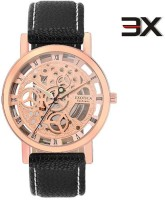 Exotica Fashions Guaranteed IP-Rose Gold Plated Watch With Original Leather Strap TraNewparent LS-IP-Rose-01-New New Series Analog Watch  - For Men