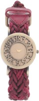 Felizer Vintage Leather Belt Metal Dial (Red) Analog Watch  - For Women