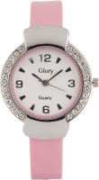 Addic Glory Crystal Studded White Dial Analog Watch  - For Women