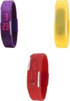 MyValueStore MVS_Three Set_370 Sports LED Digital Watch  - For Boys, Girls, Men, Women