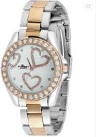Addic Forest Heart Display Gold Diamonds M106 Analog Watch  - For Women