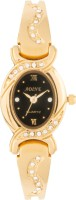 Adine AD-111 GOLDEN-BLACK Fasionable Analog Watch  - For Women