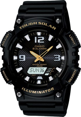 Casio Youth Combination Analog Digital Watch   For Men Black available at Flipkart for Rs.4295