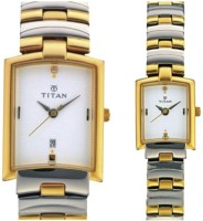 Titan Analog Watch - For Couple (Gold, Silver)