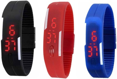 Intricate Pack of 3 Led Digital Watch  - For Men, Women...