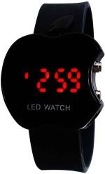 Ridas Wrist Watches Ridas Apl_led_black Apple Shape Digital Watch For Boys