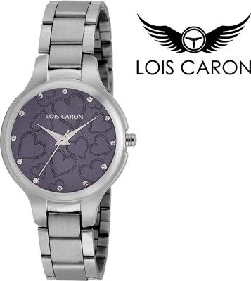 736938dbb39 Lois Caron LCS-4517 VIOLET HEART DIAL Analog Watch - For Girls