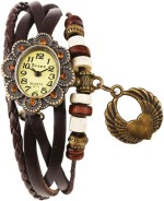 Crystal Collections Wrist Watches Crystal Collections HRTWNG BRN Vintage Analog Watch For Girls
