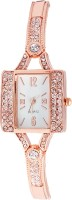 Super Drool ST2475_WT_ROSEGOLD Shimmer Crystals Analog Watch  - For Women