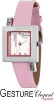 Gesture 8303-SL-PK Elegant Analog Watch  - For Women