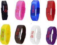 @rmgadgets LED Black Blue Yellow Red Purple Pink White Brown Digital Watch  - For Boys, Men, Girls, Women, Couple