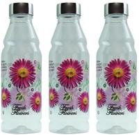 G-PET Fridge Rose With Steel Cap 1000 Ml Water Bottles (Set Of 3, Purple)