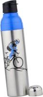 Breeze Steel And Plastic 1250 Ml Water Bottle (Set Of 1, Blue, Black, Silver)