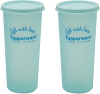 Tupperware Rainbow Tumbler 340 Ml Water Bottles (Set Of 2, Green)