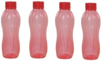 Tupperware Round Series 500 Ml Water Bottles (Set Of 4, Red)