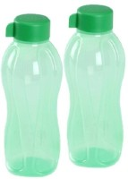 Tupperware Round Series 1000 Ml Water Bottles (Set Of 2, Green)