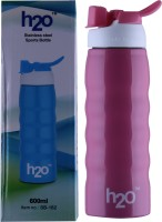 H2O SPORTS BOTTLE 600 Ml Water Bottle (Set Of 1, PINK)