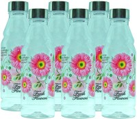 G-PET Fridge Rose With Steel Cap 1000 Ml Water Bottles (Set Of 6, Pink)