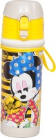 Disney Minnie Mouse 500 Ml Water Bottle (Set Of 1, Gray, Yellow)