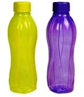 Tupperware Aqusafe 500 Ml Water Bottles (Set Of 2, Purple, Yellow)
