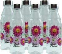 G-PET Fridge Rose With Steel Cap 1000 Ml Water Bottles (Set Of 6, Purple)