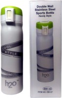 Edeal H2O SB-127 White 500 Ml Water Bottle (Set Of 1, White, Green)