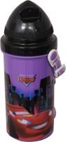 Disney Cars 500 Ml Water Bottle (Set Of 1, Purple:Black)