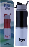 H2O Sports Bottle 750 Ml Water Bottle (Set Of 1, Black)