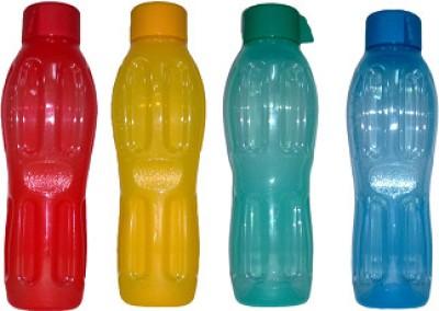 Signoraware Aquafresh 500 ml Water Bottles Set of 4, Blue, Light Green, Yellow, Red available at Flipkart for Rs.309