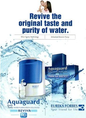 d1472766b6 Aquaguard REVIVA 8 L RO + UV Water Purifier (White, Blue) | Kenyt